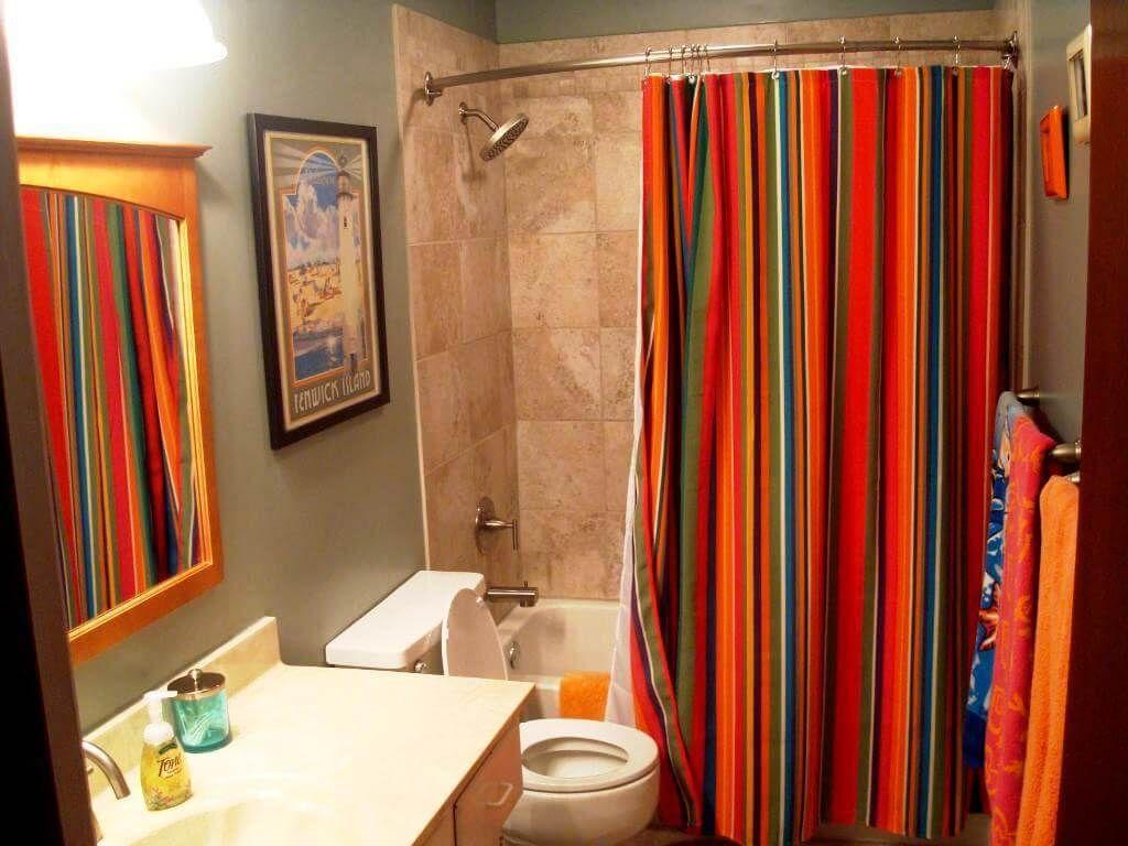 shower curtain ideas make your bathroom look spacious bathroom