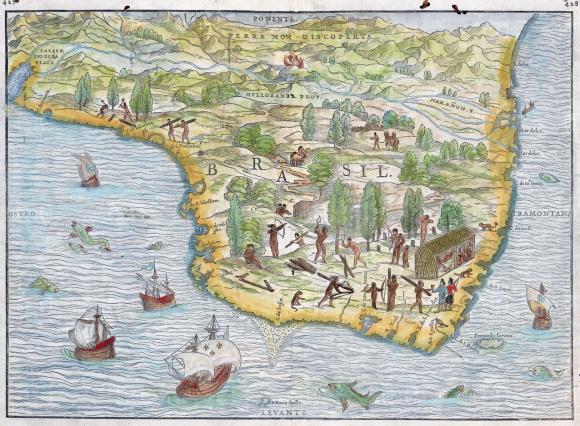Map of  Giacomo Gastaldi — Brasil, 1556