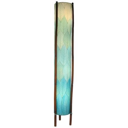 Eangee giant hue sea blue cocoa leaves tower floor lamp home eangee giant hue sea blue cocoa leaves tower floor lamp aloadofball Gallery