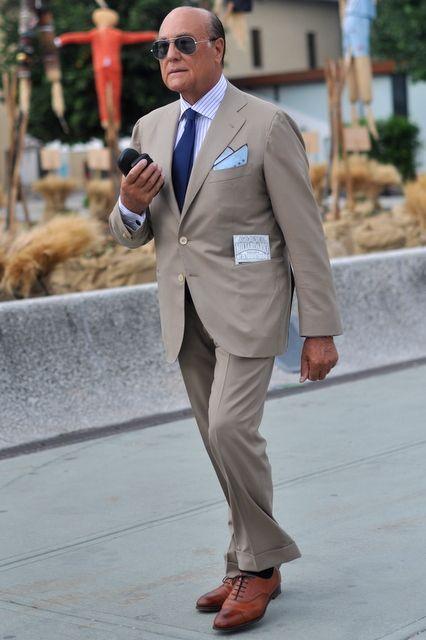 Light brown suits in cotton, linen, or mohair. Cognac brown ...