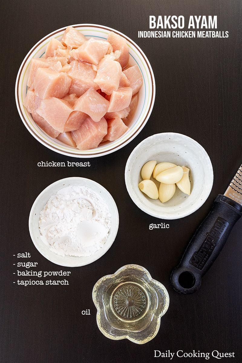 Bakso Ayam Recipe In 2020 Diy Food Recipes Chicken Meatballs Crispy Honey Chicken