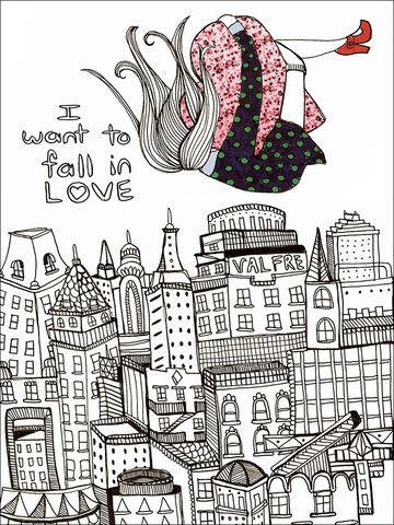 Falling in Love Print - Every doll, girl, and chic will eventually. – Valfré