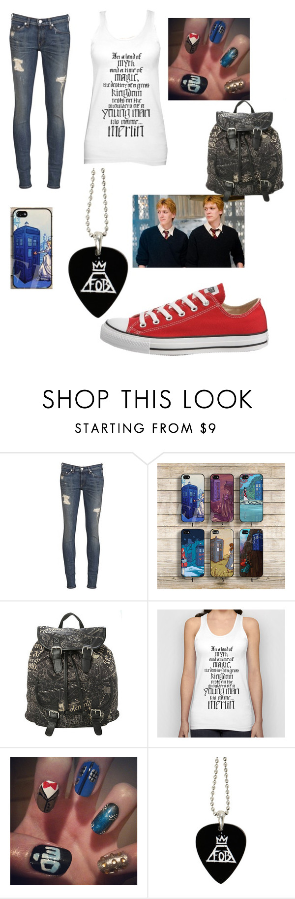 """Fandoms United"" by uandme123456 ❤ liked on Polyvore featuring rag & bone, Disney and Converse"