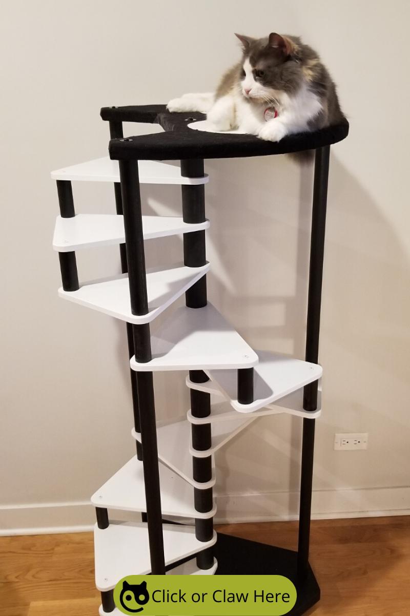 Cat Tree 12 Step Spiral Cat Furniture Best Cat Stairs Etsy Modern Cat Tree Unique Cat Trees Cat Furniture