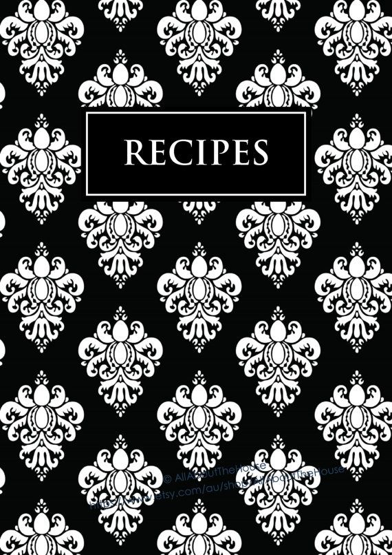 Book Cover Template Editable : Editable recipe binder printables sheet card