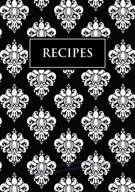 Recipe Book Cover Printable Template ~ Editable recipe binder printables sheet card
