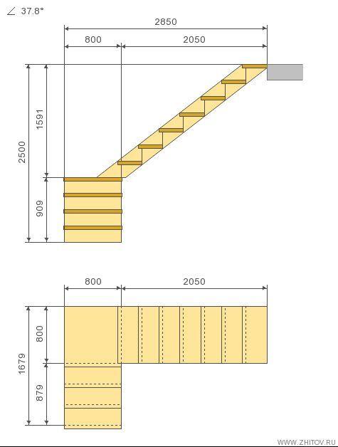 Pin de omar ram rez torija en escalera pinterest for Planos de escaleras de madera