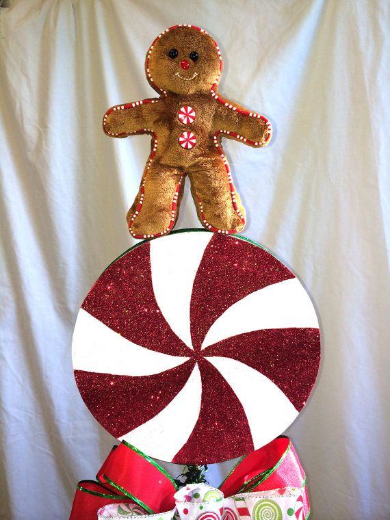 Christmas Clearance Sale Gingerbread Man Christmas Tree Topper
