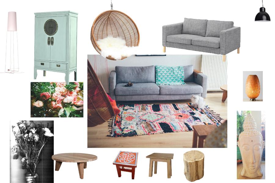 moodboard woonkamer mintgroen geverfde chinese kast lamp slim sophie bank karlstad van ikea. Black Bedroom Furniture Sets. Home Design Ideas