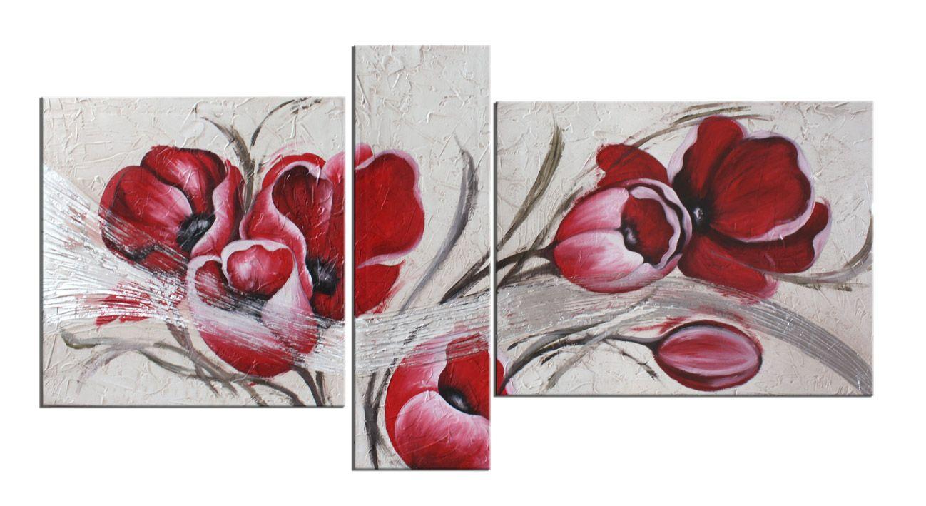 quadri moderni con fiori tulipani | bacheca di gio | Tríptico, Arte ...