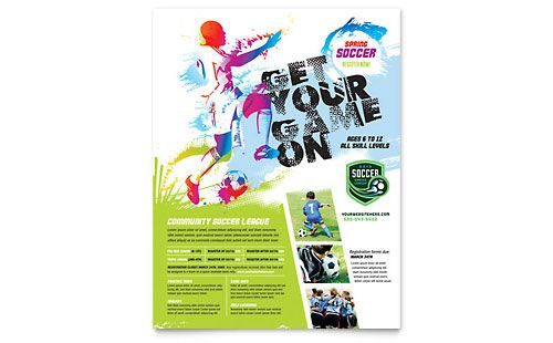 Youth Soccer Flyer Template Layout Pinterest Flyer template - soccer flyer template