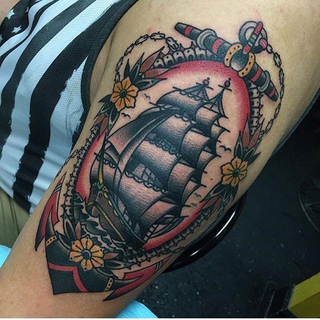 Image result for clipper ship tattoo | Tatuagem old scholl ...
