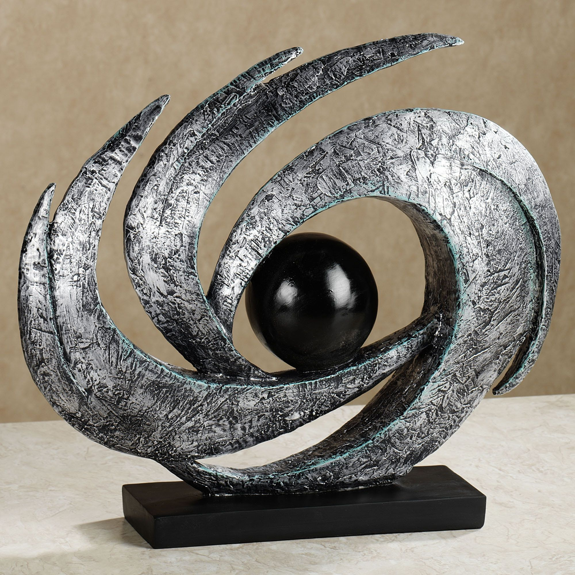 Attractive Earths Motion Abstract Table Sculpture $64