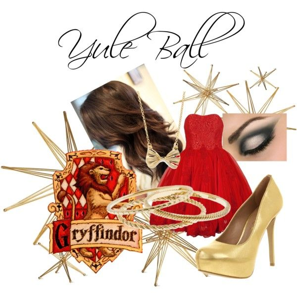 Gryffindor Yule Ball, created by icyblupop on Polyvore