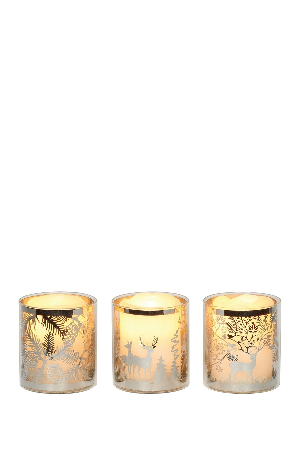 Large Glass Laser Cut Candle Holders - Set of 3 on @HauteLook