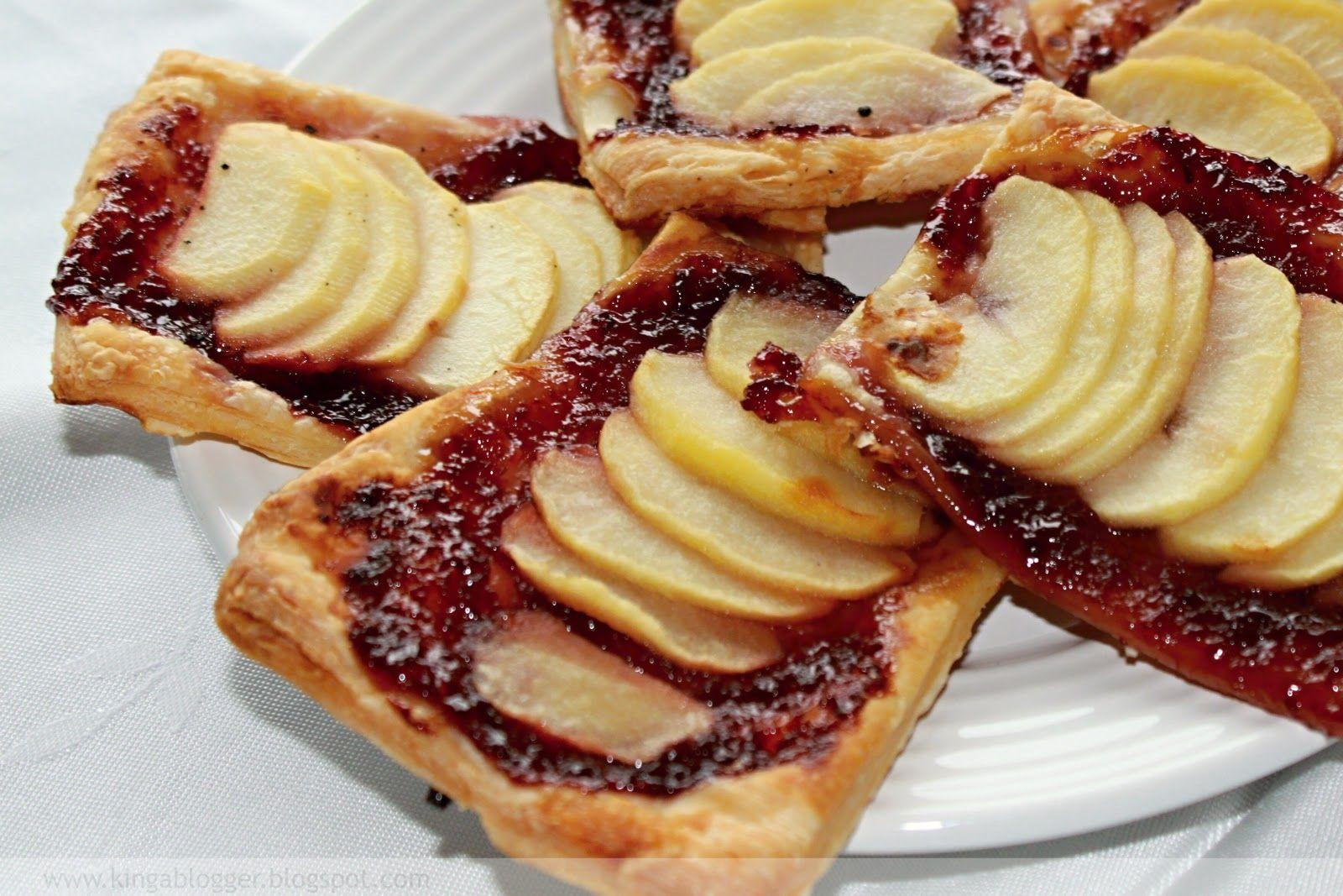 Lístkové cesto s čerešňovým džemom a jablkami | Kinga blogger