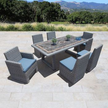 Niko 7 Piece Patio Dining Set In Slate By Sirio™