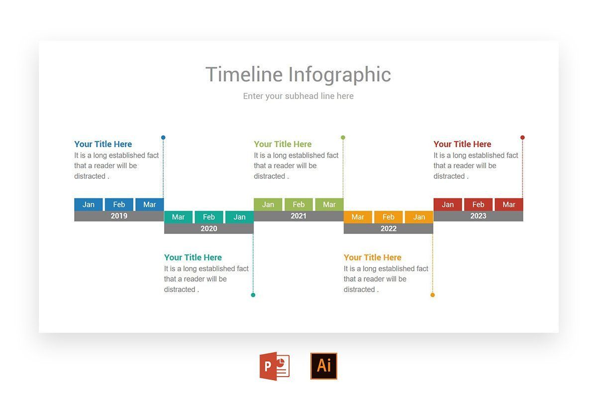 monthly timeline infographics powerpoint presentation design infographic
