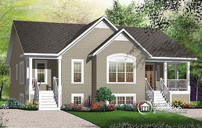 Plan de maison no W3037 de dessinsdrummond maison jumele