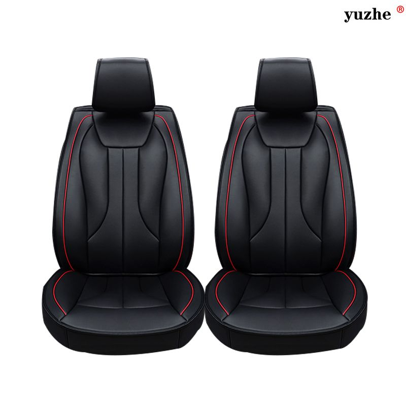 Enjoyable 2 Pcs Leather Car Seat Covers For Tesla Model S Model X Machost Co Dining Chair Design Ideas Machostcouk