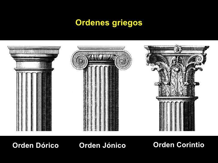 Orden dórico, jónico, corintio