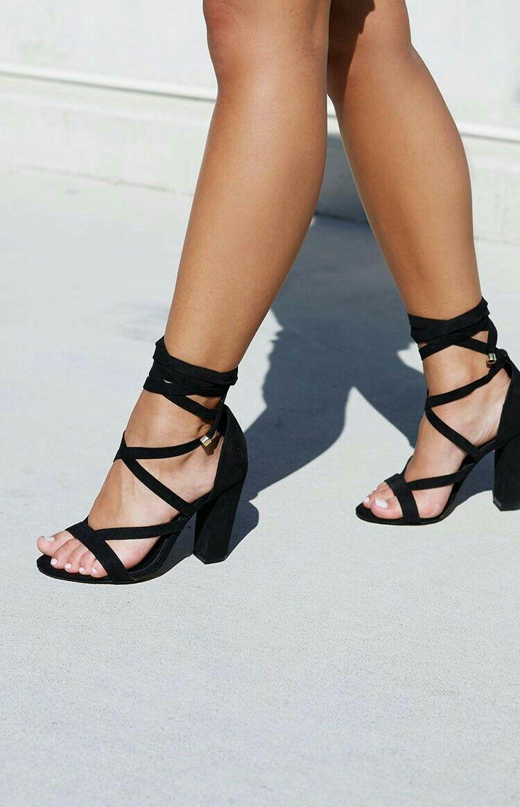 9acc6ef810cf   pinterest  esib123    Black Lace Up Heels