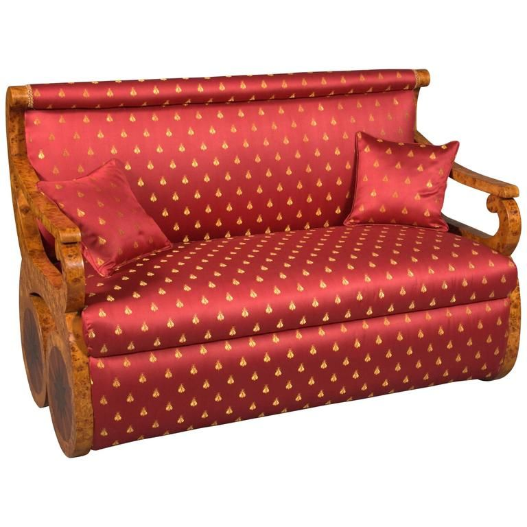 Kanapee Sofa canapé sofa in viennese biedermeier style maple root veneer on