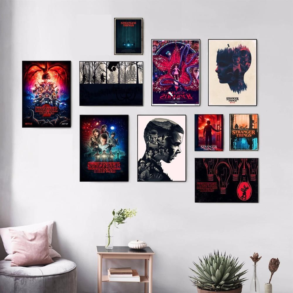 Stranger Things Movie Canvas Art Print Painting Poster Wall Pictures For Living Room Home Decoration W Stranger Things Wall Picture Wall Stranger Things Poster