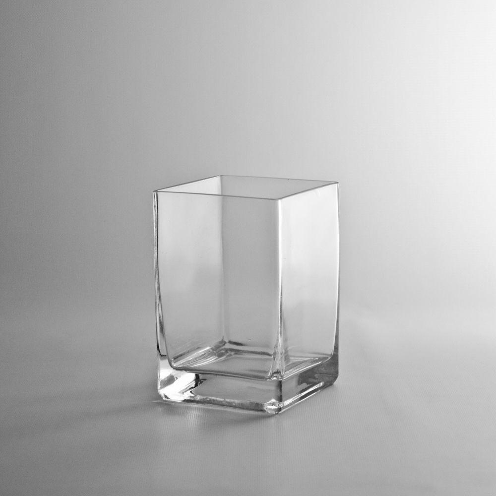 6 Tall x 4 Glass Block Vase, Wholesale Discount Flowers and Supplies - Wholesale Flowers and Supplies - $4.50