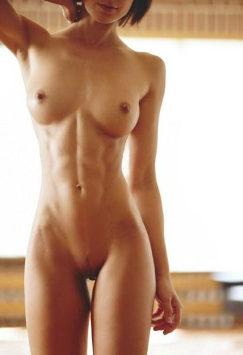 Beautiful nude flat stomach women