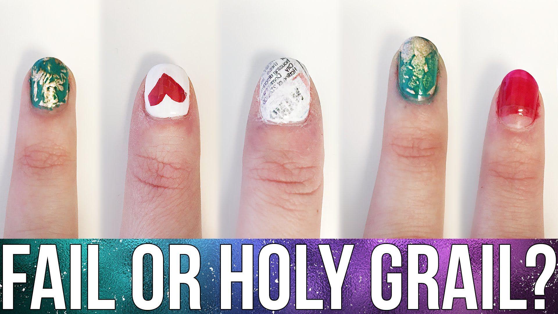 Beauty Hacks: Fail or Holy Grail? ♥ Nail Art Hacks! | Ellko | Nail ...