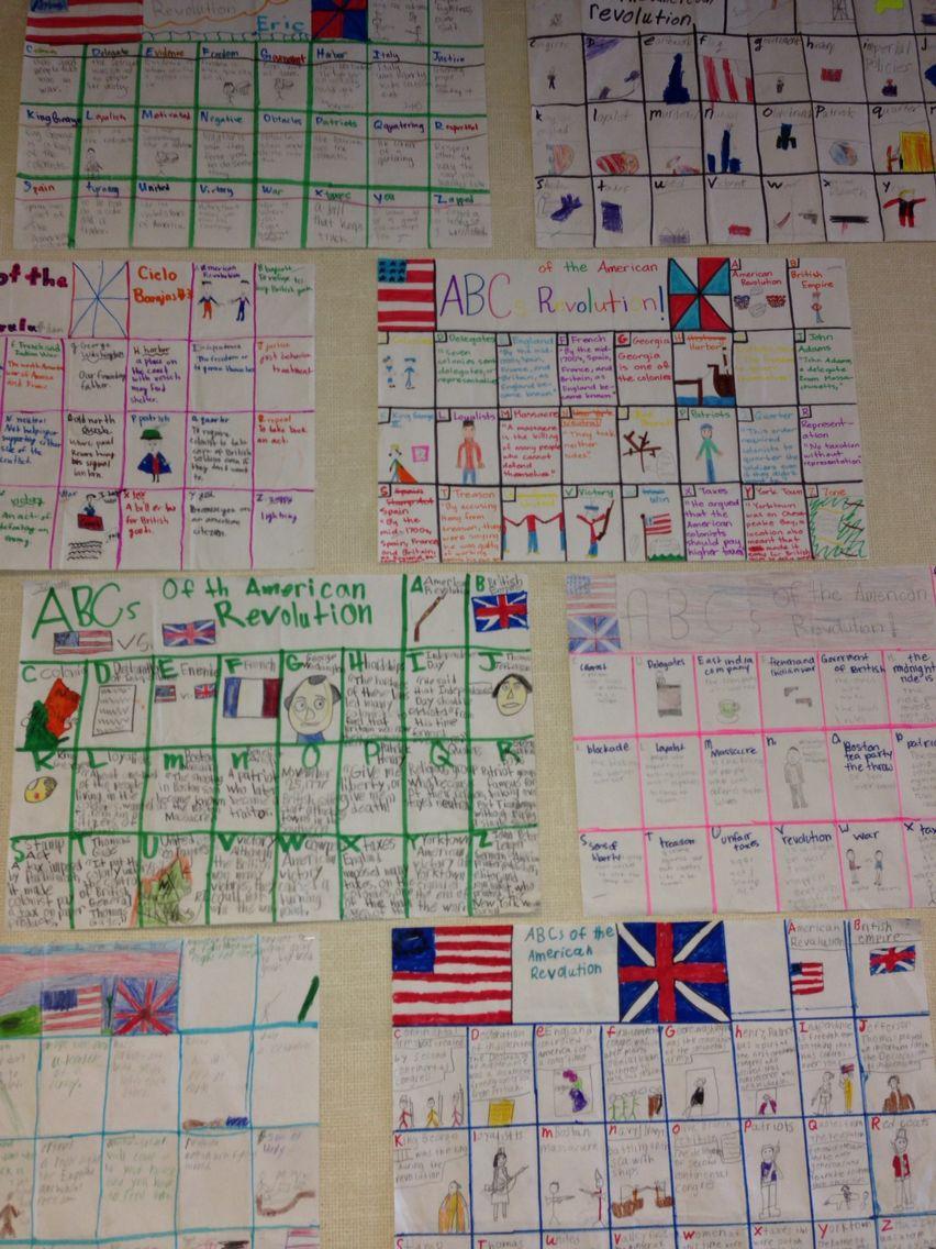 Abcs of the american revolution 5th grade social studies