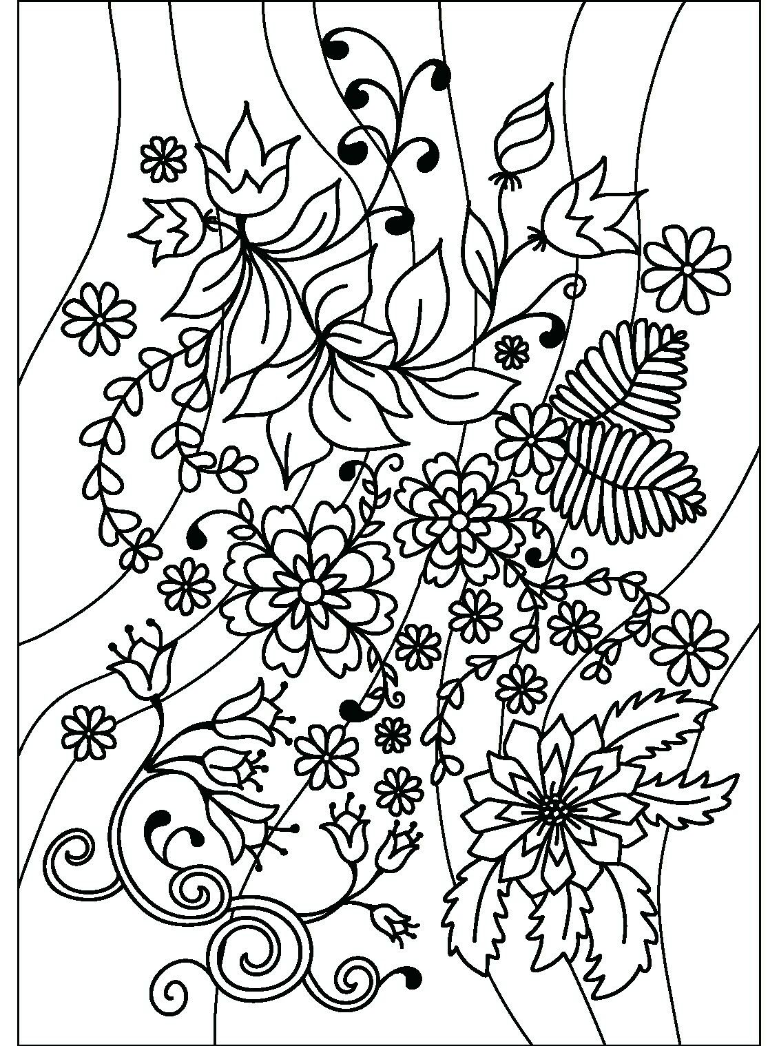 Colouring Pages And Floral On Pinterest