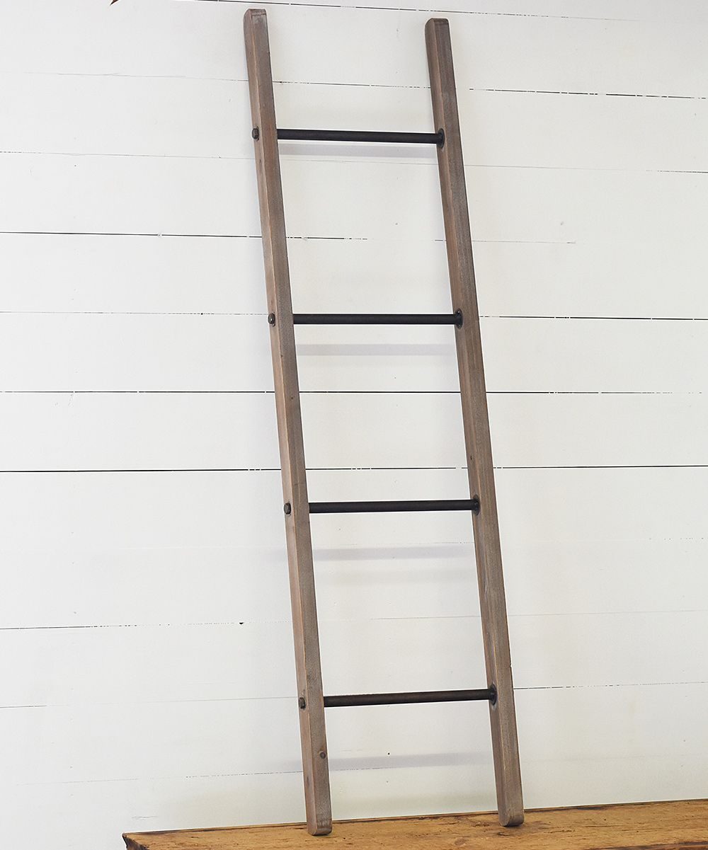 Natural Wood Black Decorative Ladder Zulily Ladder Decor Natural Wood Ladder
