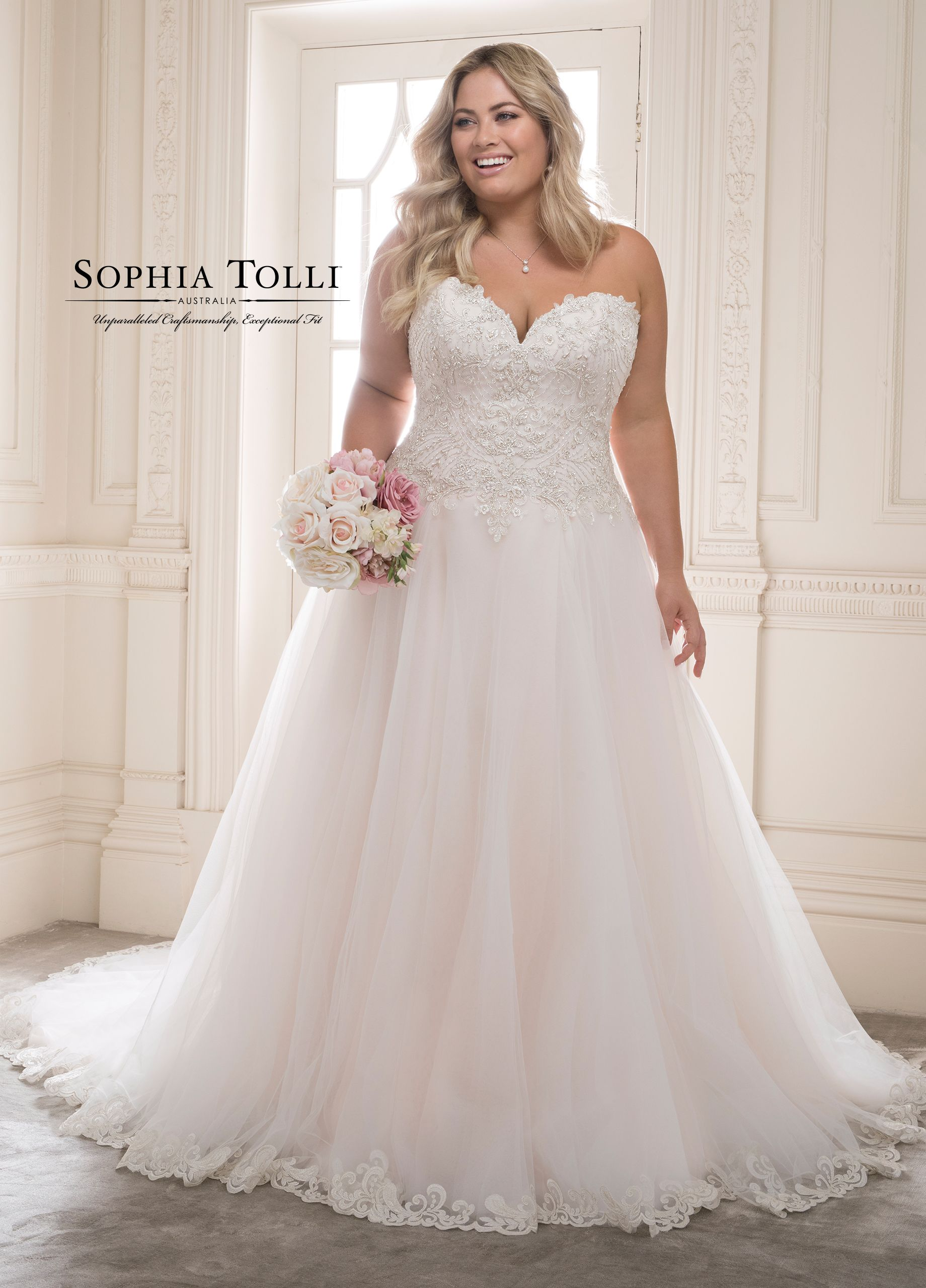 Royal Misty Plus Size Tulle Ballgown Wedding Dress - Y21816 Morganite #tulleballgown