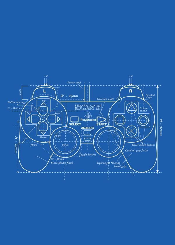 Ps one controller blueprint technical drawings pinterest ps one controller blueprint malvernweather Image collections
