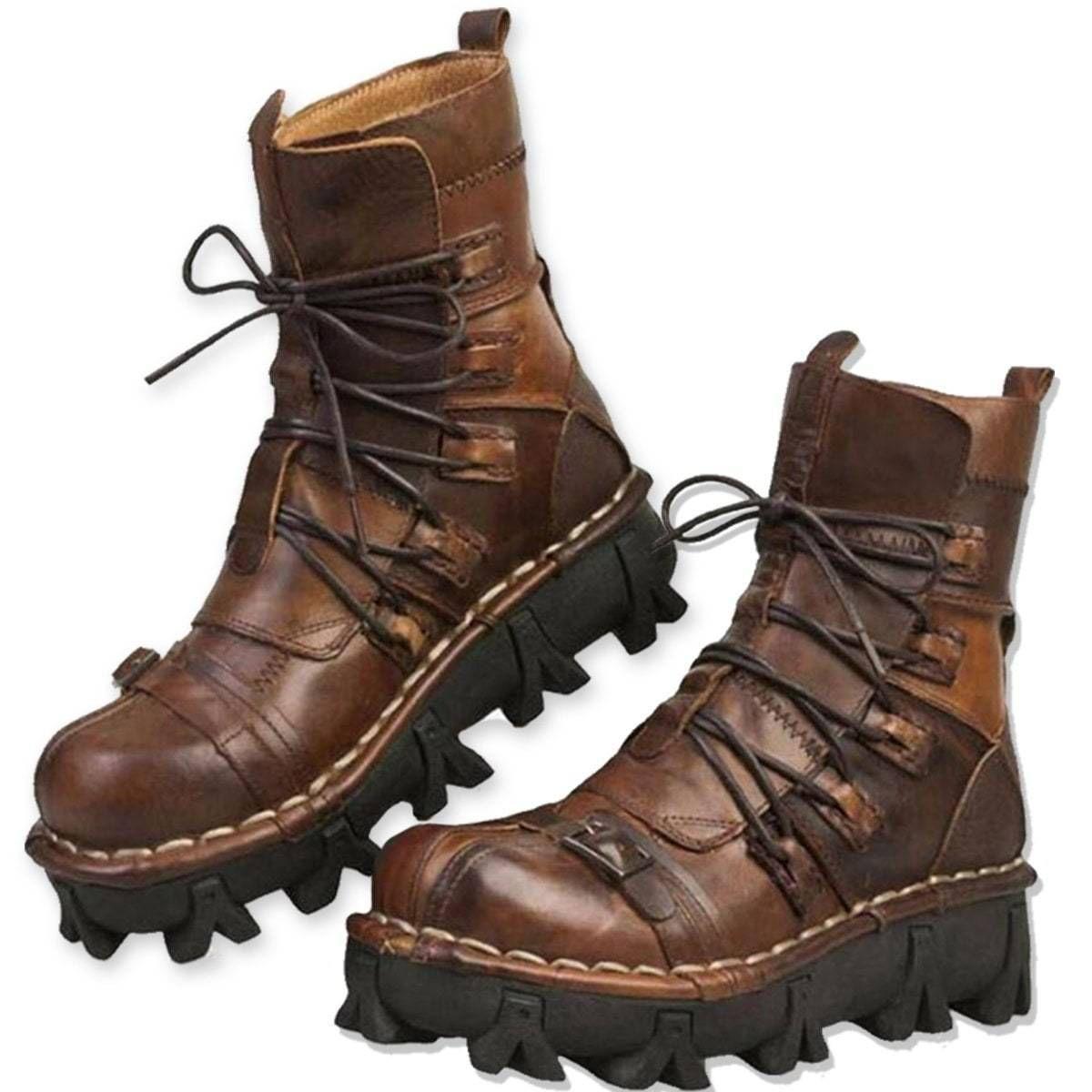 Badass Handmade Leather Boots, Size US