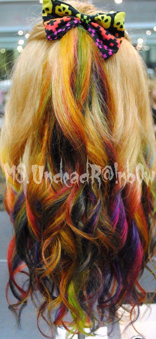 Rainbow Ombre by MsUndeadRainbow