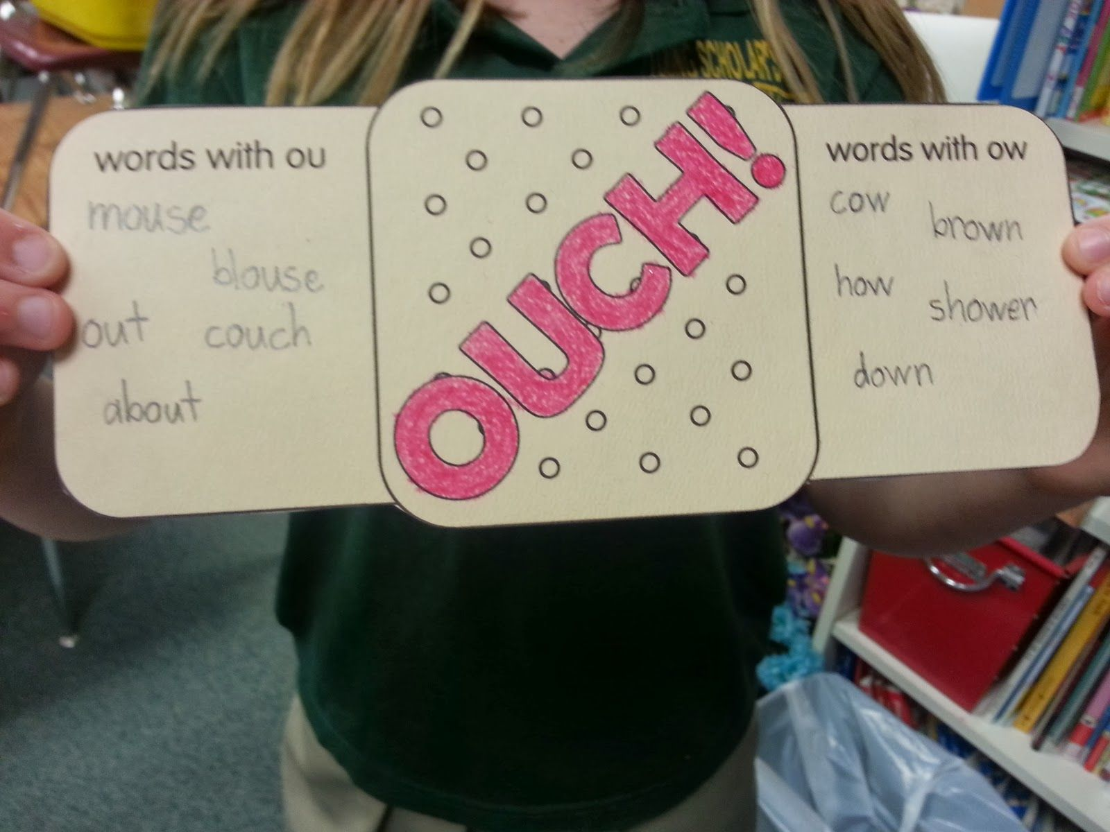 Cute Ou And Ow Story Word Workphonics