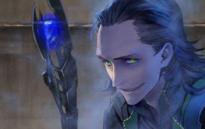 Never can get enough of anime/manga style Loki.