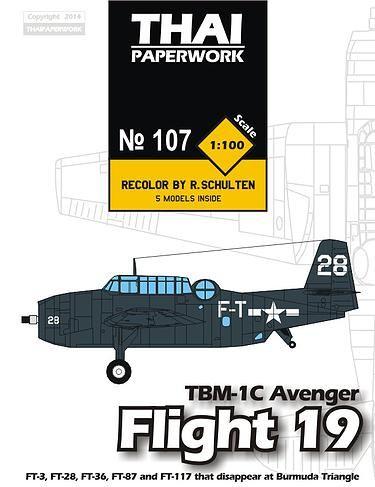 Flight 19 Grumman TBF-1C Avenger Bomber Free Aircraft Paper Model Download - http://www.papercraftsquare.com/flight-19-grumman-tbf-1c-avenger-bomber-free-aircraft-paper-model-download.html#1100, #AircraftPaperModel, #Avenger, #Bomber, #Grumman, #GrummanTBFAvenger, #GrummanTBF1CAvenger, #TBF1C, #TBM