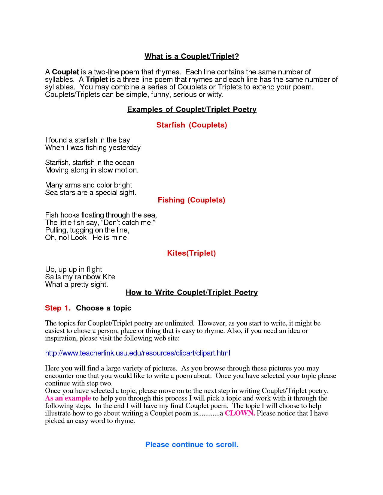 couplet poem definition and example - Google Search | Poetry and ...