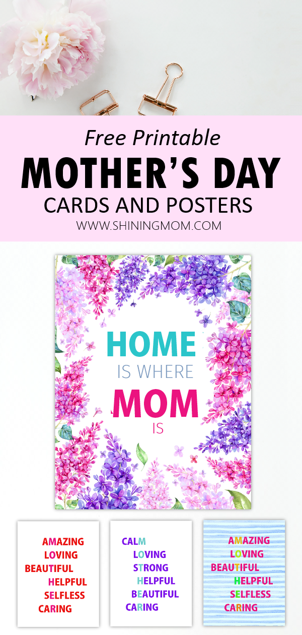 12 free printable mother's day cards beautiful and