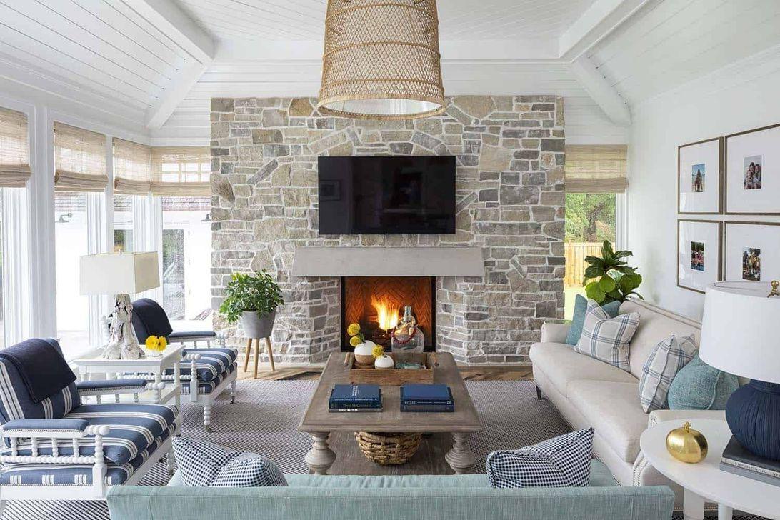 32 popular modern farmhouse fireplace ideas trend 2020