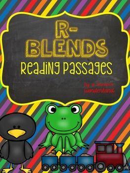 R Blend Reading Passages | Reading passages, Teaching, Phonics