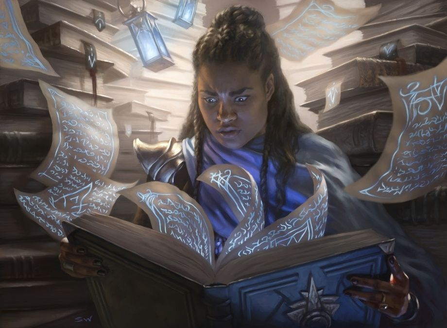 Compulsive Research, an art print by Sara Winters   Character portraits,  Fantasy character design, Fantasy inspiration