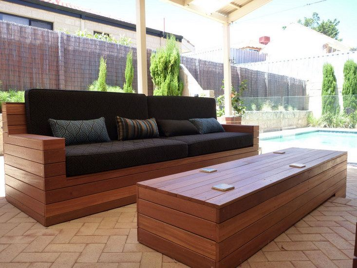 Outdoors Launge Benches 1000 Ideas About Homemade Outdoor Furniture On Pinterest Pallet