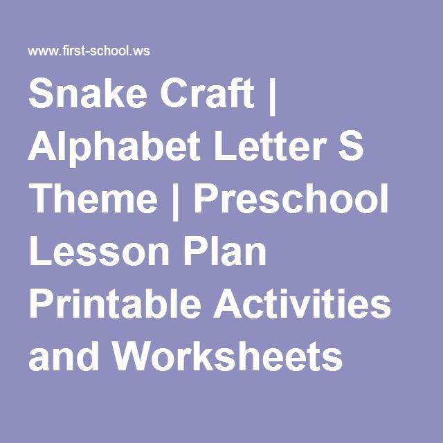 Crown Lesson Plan: Alphabet Letter S Theme