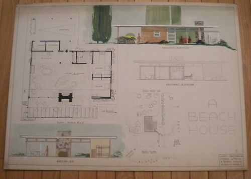 house maybe i am crazy but i love this 1950s original architect drawing plan - Beach House Design 1950s