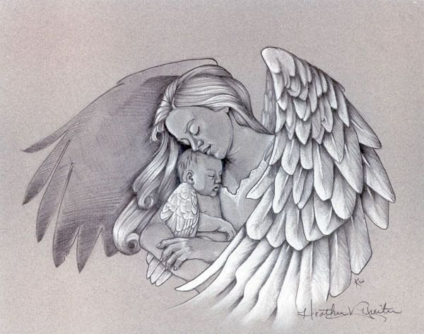30df085a1 Angel Holding Baby Tattoo Design | Faith, Hope and Love | Baby angel ...